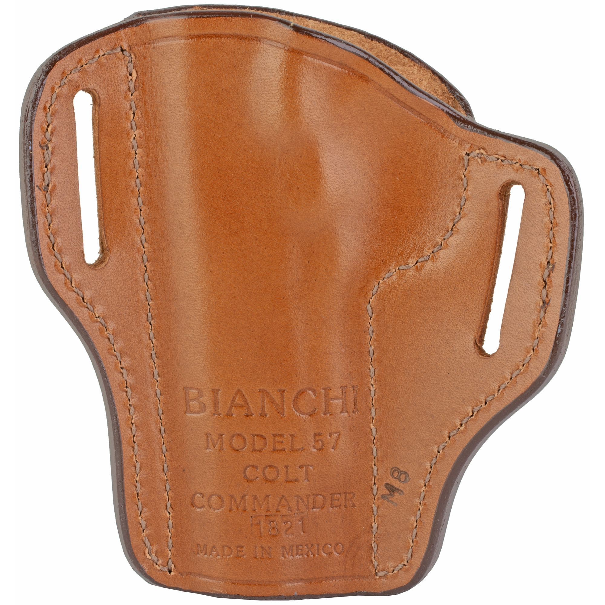 Bianchi Colt Commander 57 Remedy Right Hand Leather Holster - Tan-img-1