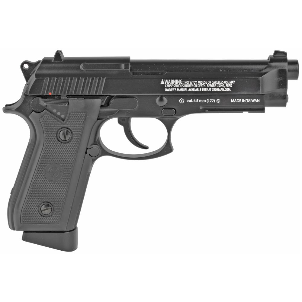 "Crosman BB Air Pistol 5"" CO2 Pistol 20rd 400FPS - Black-img-1"