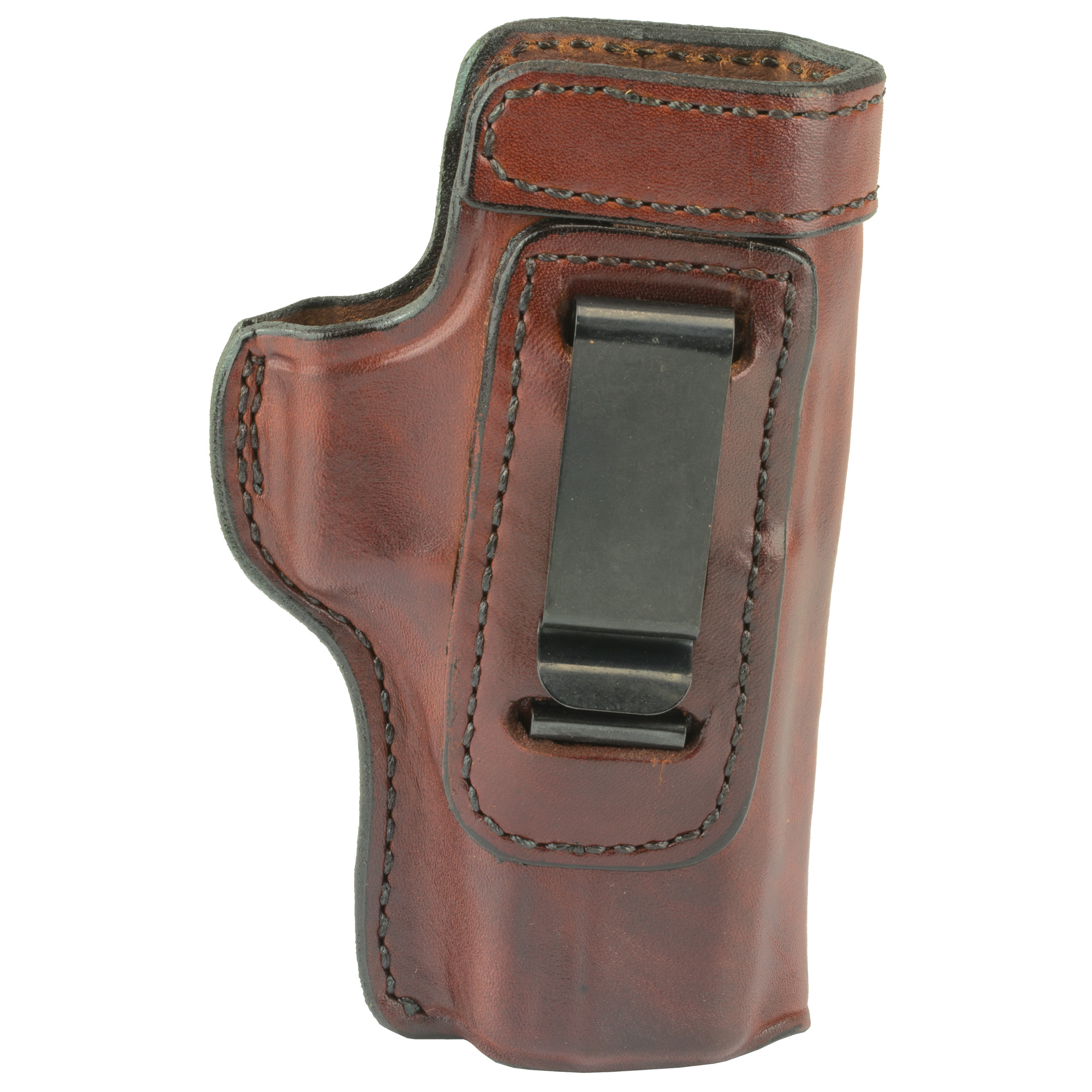 """Don Hume Glock 20/21 Clip On H715M 4.5"""" Right Hand Leather Holster - Brown-img-1"""