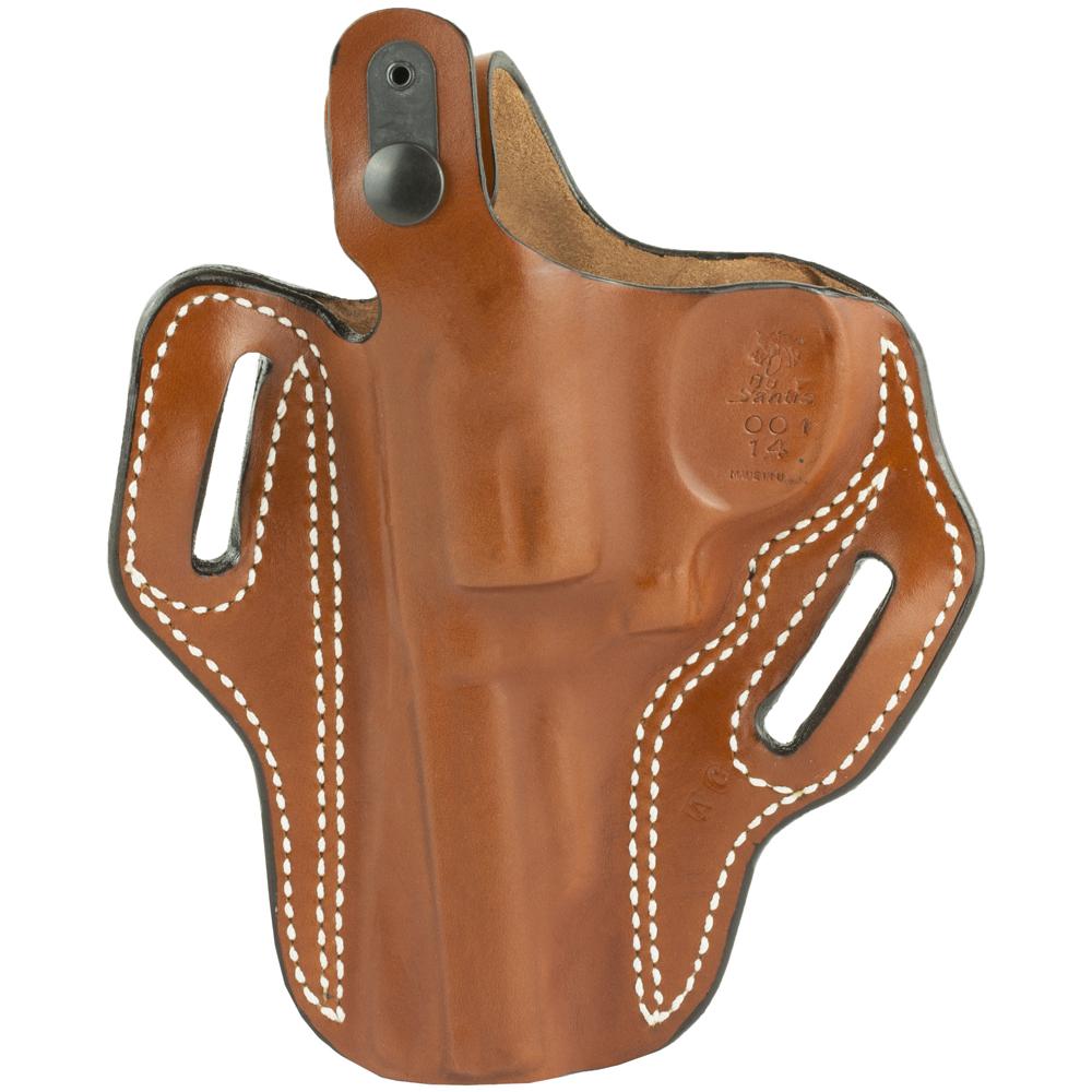 """DeSantis S&W K-Frame 4"""" 001 Thumb Break Scabbard Right Hand Leather Belt Ho-img-1"""