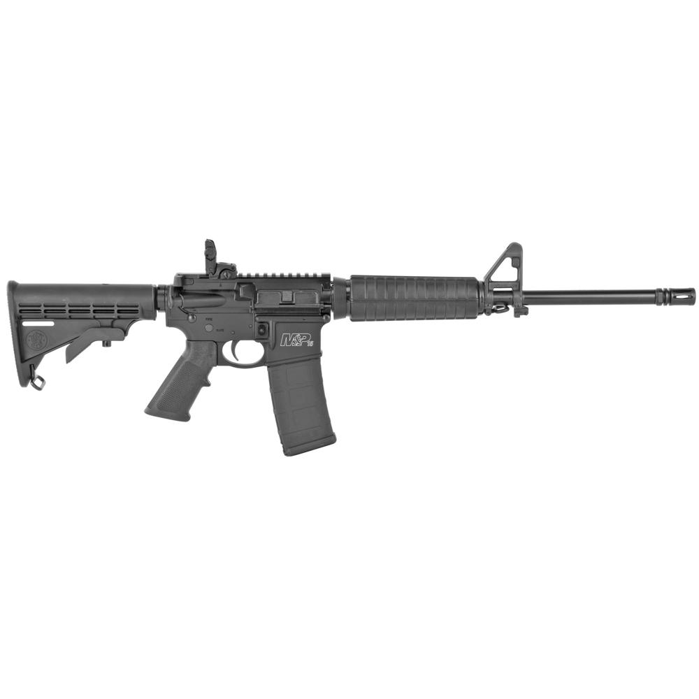 "Smith & Wesson M&P 15 Sport II AR 16"" 5.56 NATO 30rd Flip Up Rear - Black-img-1"