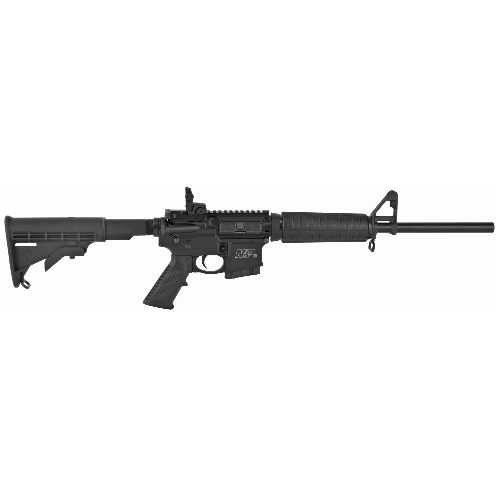 "Smith & Wesson M&P 15 Sport II AR 16"" 5.56 NATO 10rd Flip Up Rear - Black-img-1"