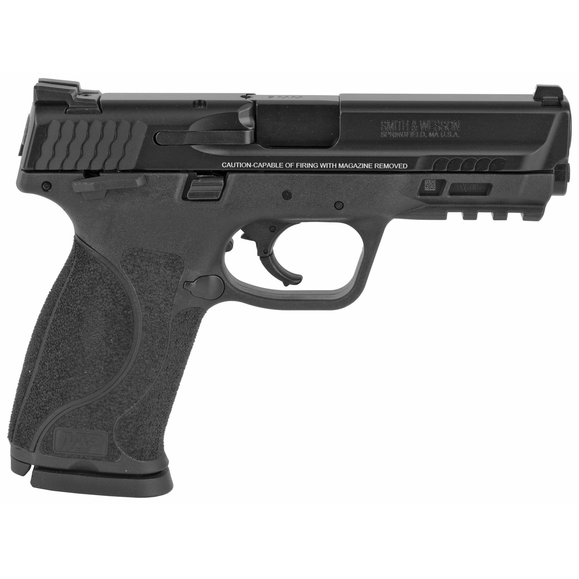 """Smith & Wesson M&P 2.0 Striker Fired 4.25"""" 9mm 17rd Fixed Sights - Black-img-1"""