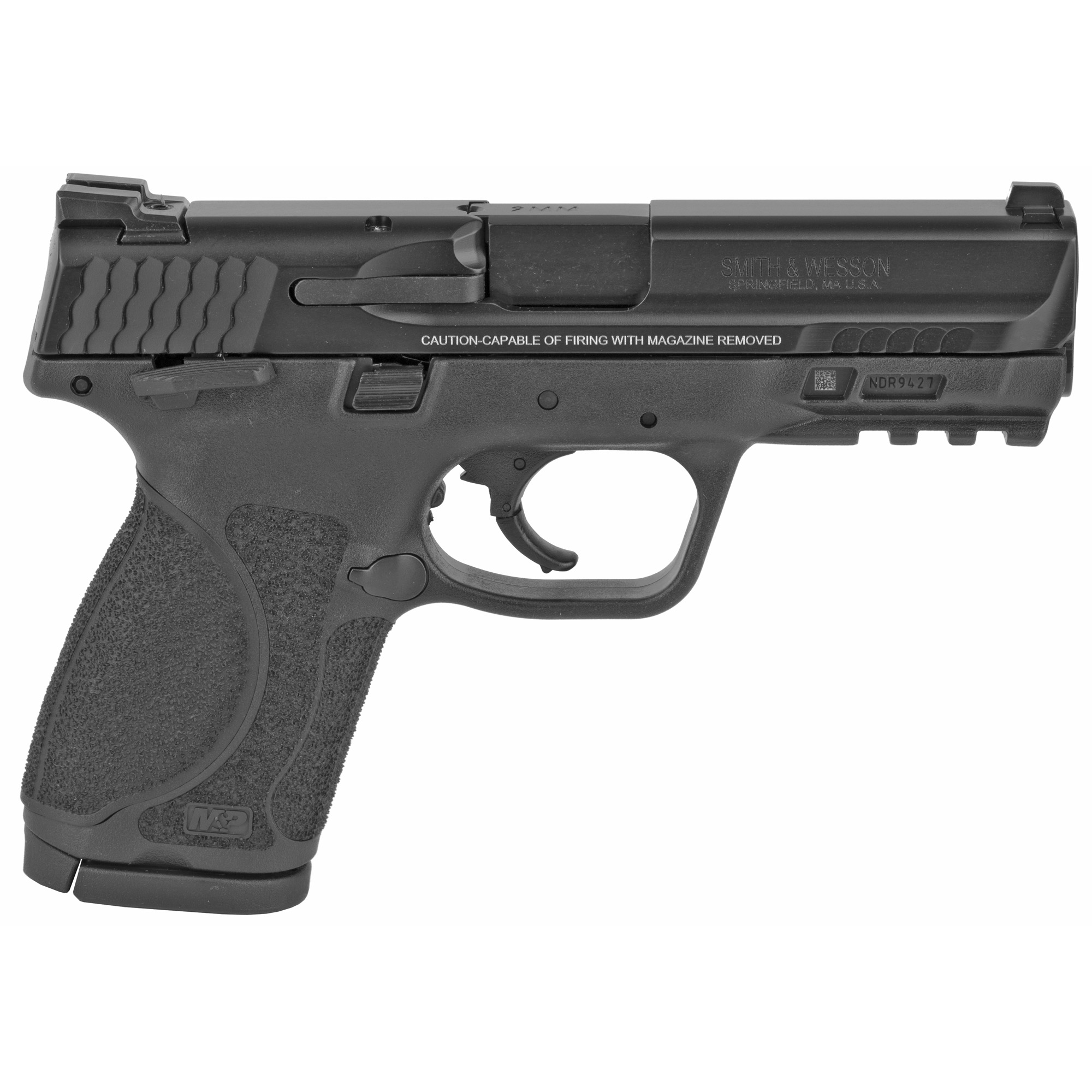 """Smith & Wesson M&P 2.0 Striker Fired 4"""" 9mm 15rd Fixed Sights - Black-img-1"""