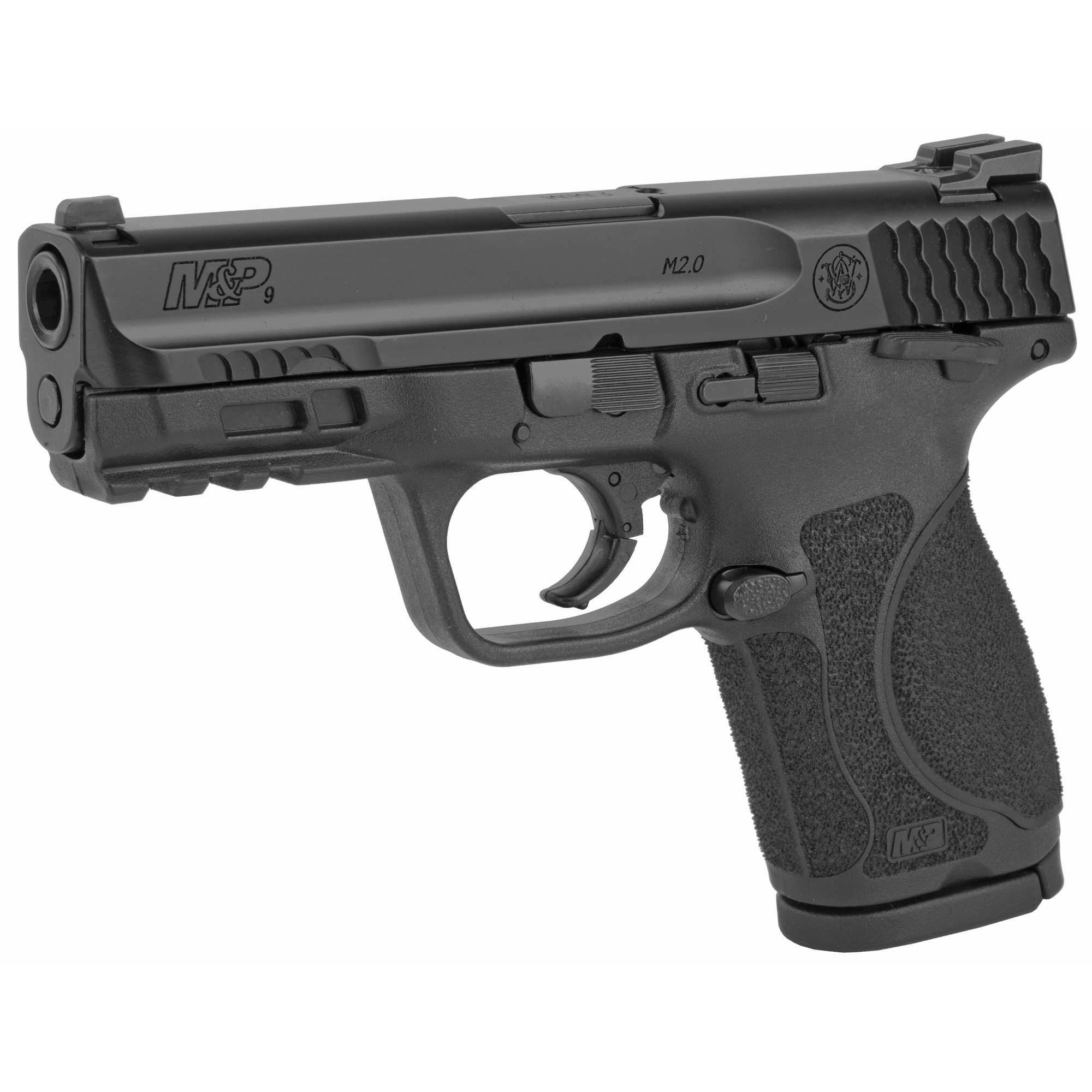 """Smith & Wesson M&P 2.0 Striker Fired 4"""" 9mm 15rd Fixed Sights - Black-img-2"""