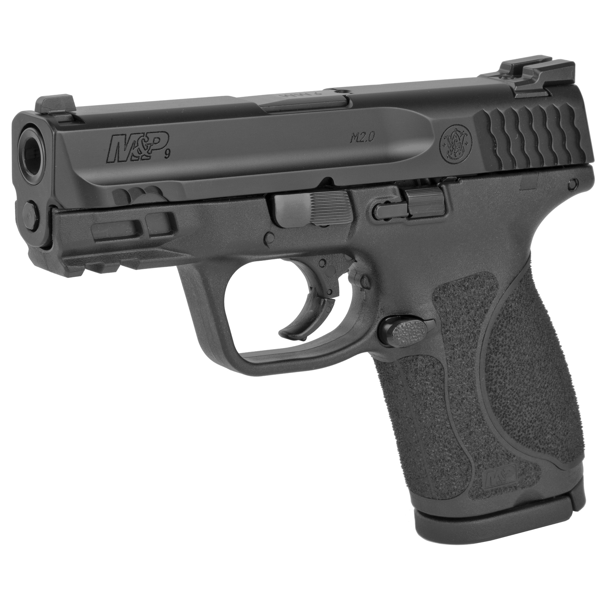 """Smith & Wesson M&P 2.0 Striker Fired 3.6"""" 9mm 15rd Fixed Sights - Black-img-2"""