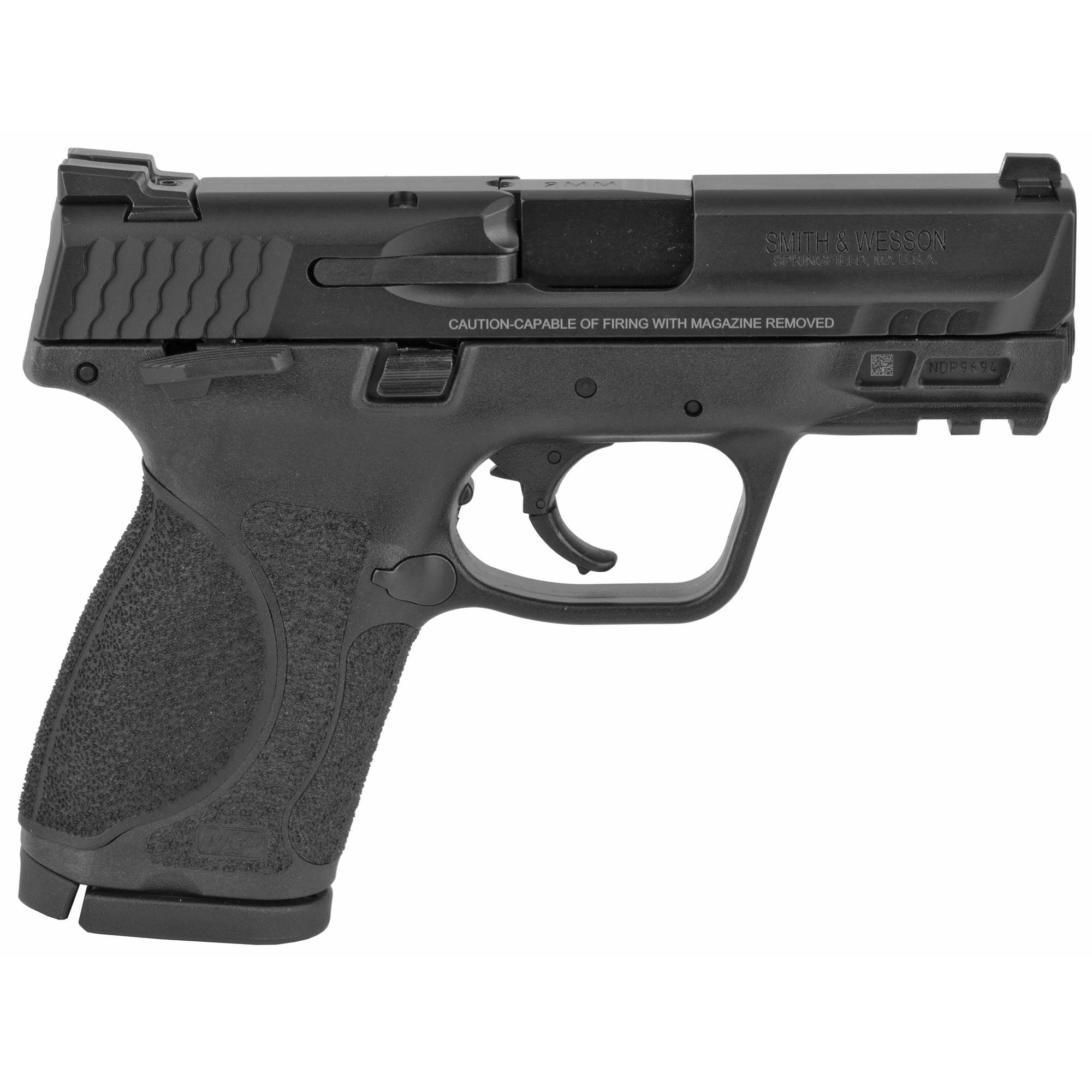 """Smith & Wesson M&P 2.0 Striker Fired 3.6"""" 9mm 15rd Fixed Sights - Black-img-1"""