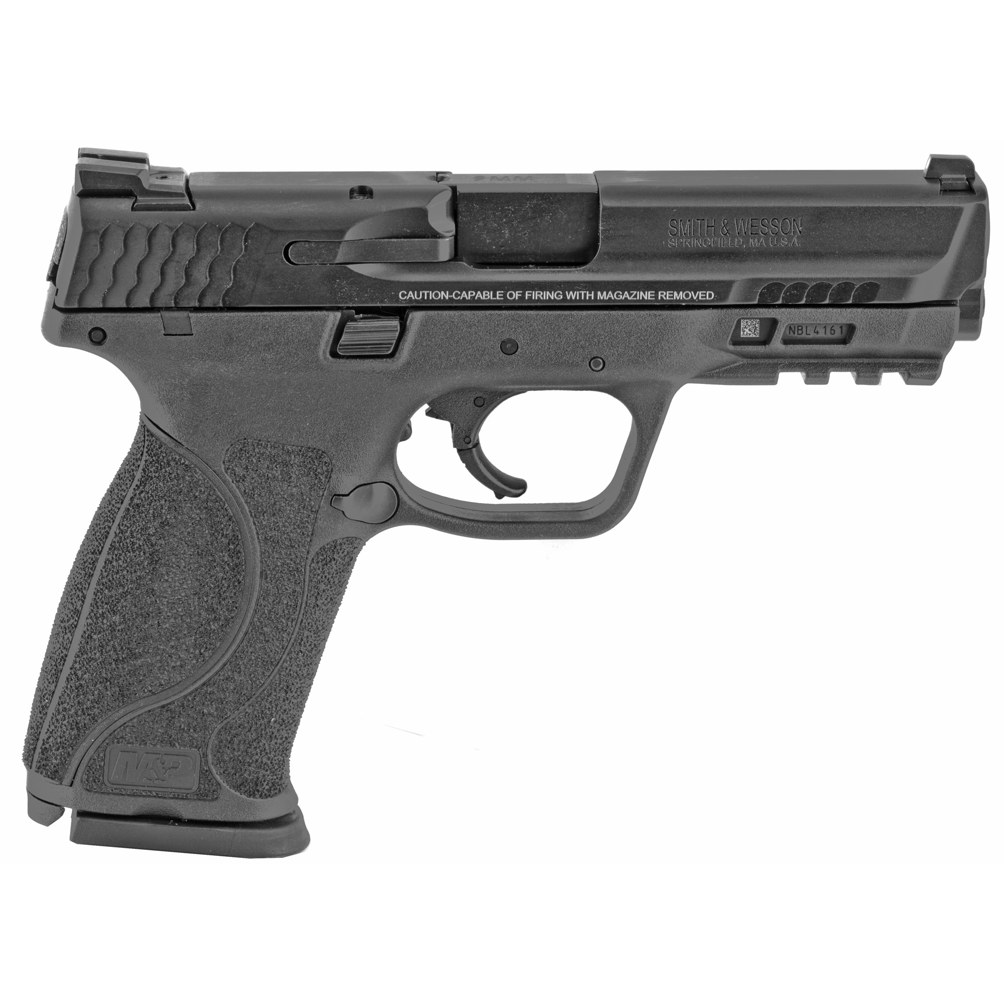 """Smith & Wesson M&P 2.0 Striker Fired 4.25"""" 9mm 10rd Fixed Sights - Black-img-1"""