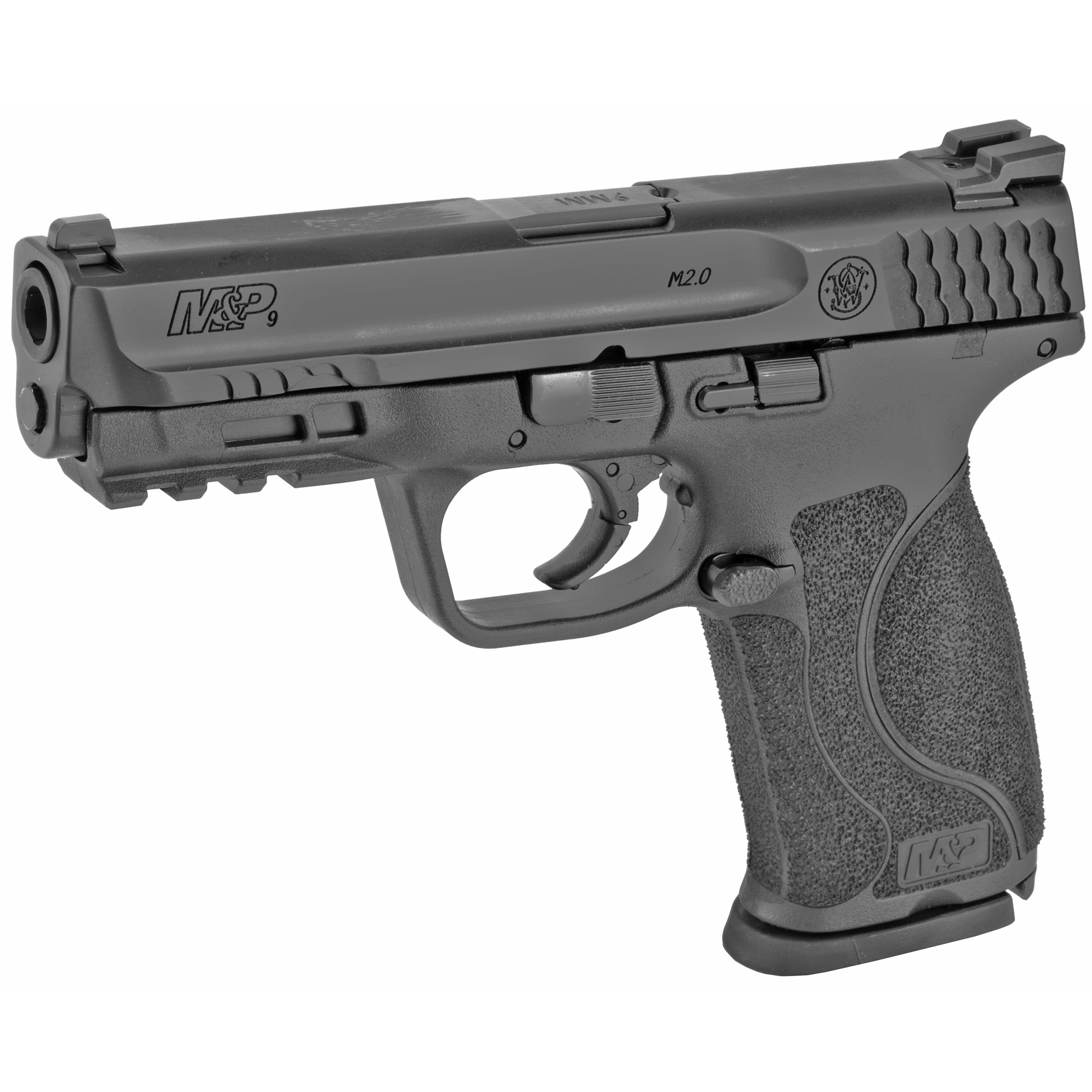 """Smith & Wesson M&P 2.0 Striker Fired 4.25"""" 9mm 10rd Fixed Sights - Black-img-2"""