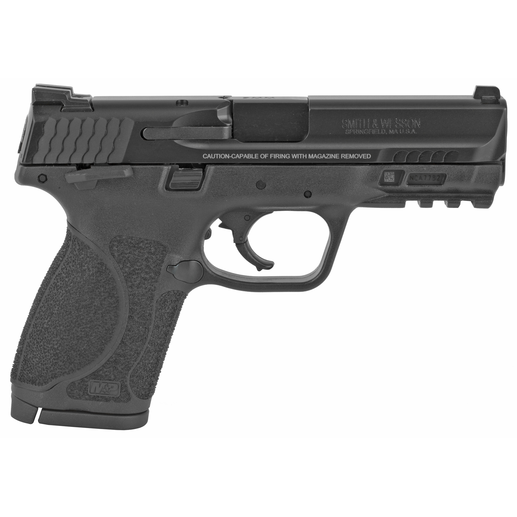 """Smith & Wesson M&P 2.0 Striker Fired 4"""" 9mm 10rd Fixed Sights - Black-img-1"""