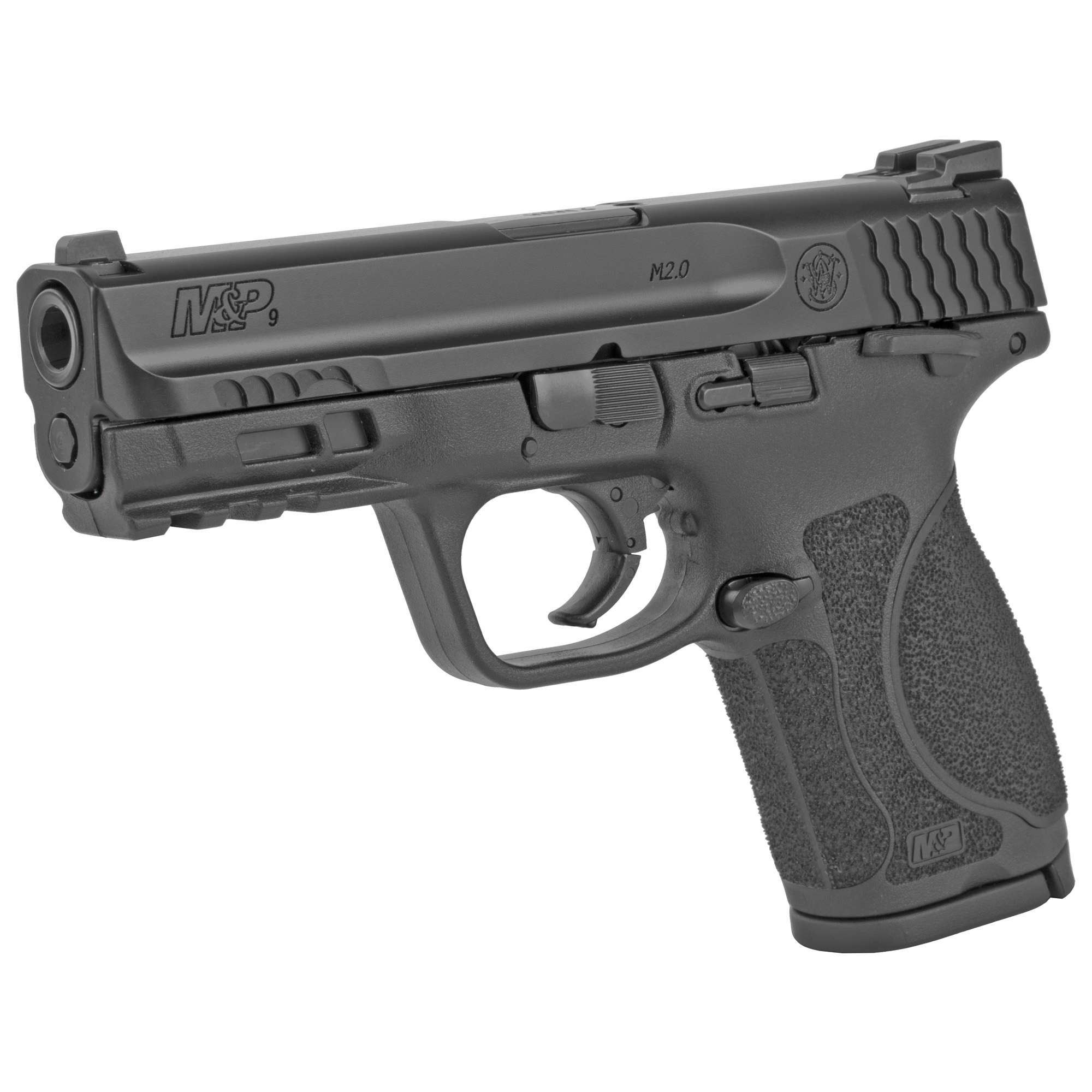 """Smith & Wesson M&P 2.0 Striker Fired 4"""" 9mm 10rd Fixed Sights - Black-img-2"""