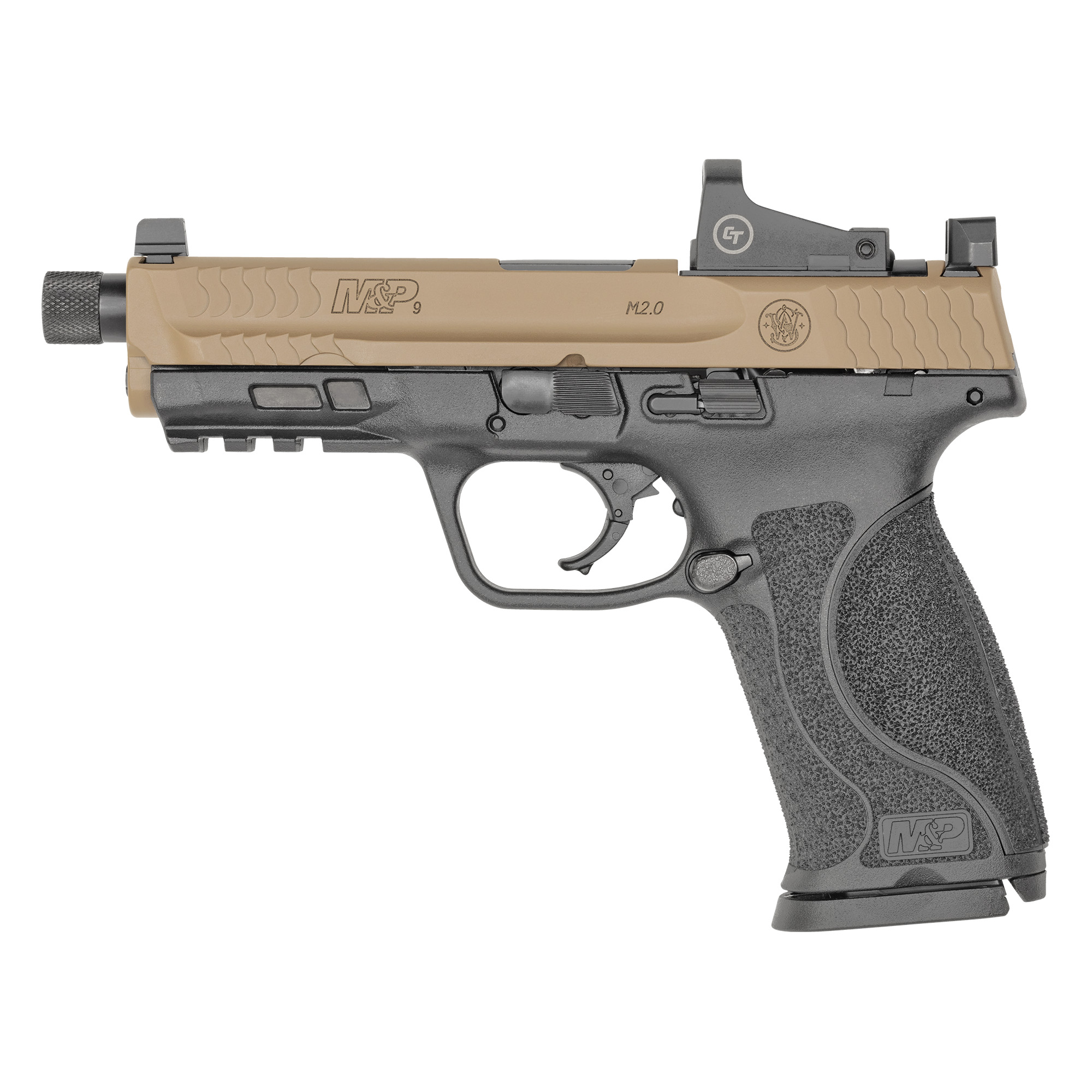 """Smith & Wesson M&P 2.0 Striker Fired 4.6"""" 9mm 17rd Suppressor Sights - Flat-img-1"""