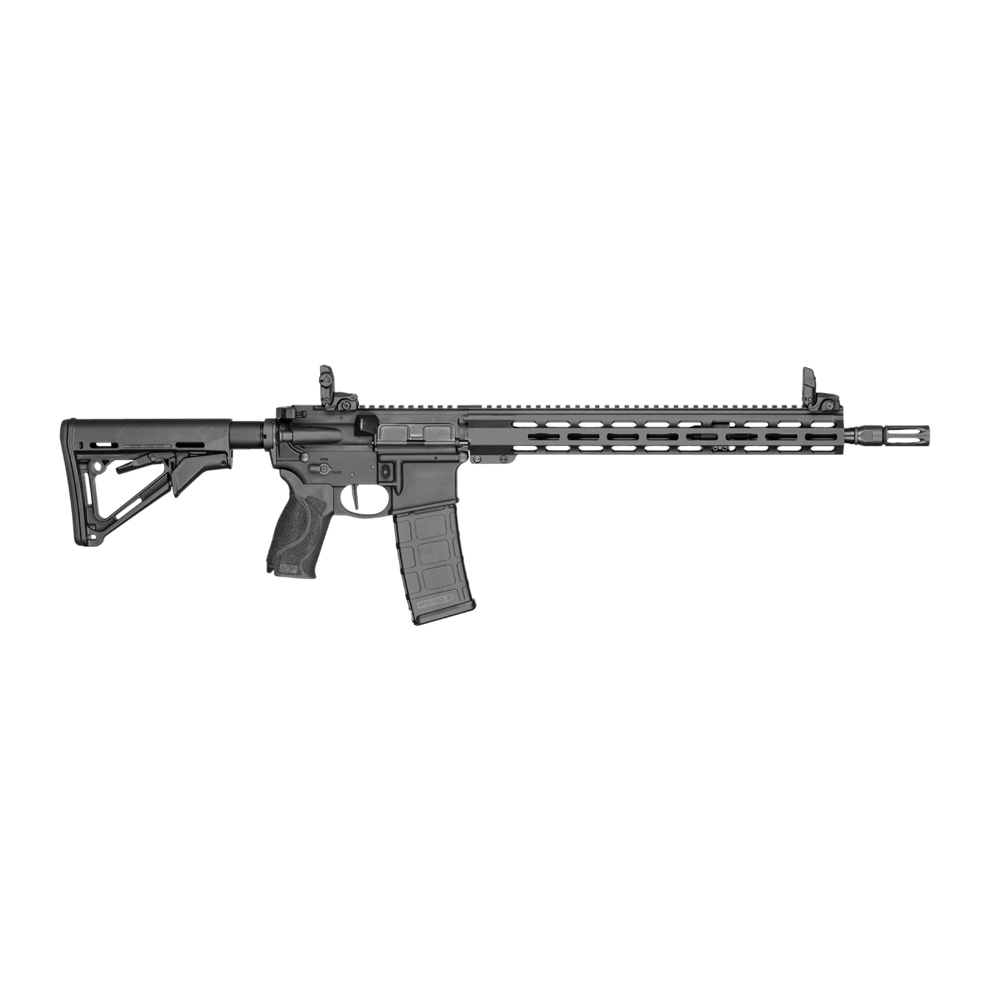 """Smith & Wesson M&P 15T II AR 16"""" 5.56 NATO 30rd Front/Rear Flip Sights - Bl-img-1"""